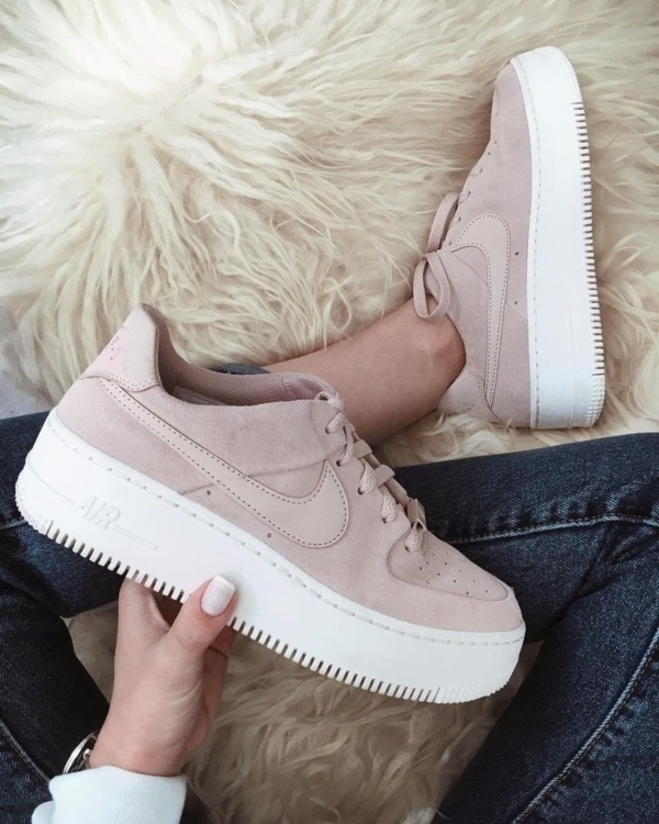 nike air force 1 shadow grigie e rosa