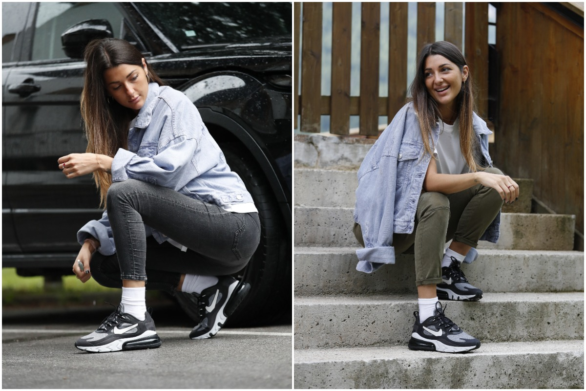 Outfit @beatricecrema con nike 270 react